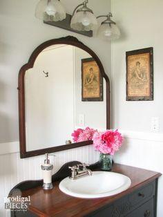 Budget-Friendly DIY Farmhouse Style Bathroom Makeover by Prodigal Pieces www.prodigalpieces.com #prodigalpieces