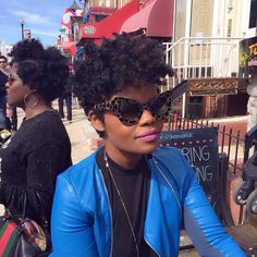 Loving the tapered cut. http://www.shorthaircutsforblackwomen.com/how-to-transition-from-relaxed-to-natural-hair/