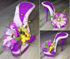 Свит-дизайн 8 марта День рождения Моделирование конструирование Новая коллекция туфелек   Бумага гофрированная фото 9