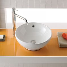 Bissonnet Universal Ceramic Bowl Bathroom Sink in White - 10041