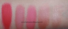 MAC Blush Swatches: Frankly Scarlet, Mocha, Fleur Power, Sunbasque, Trace Gold