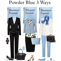 Powder Blue 3 Ways at Work by professionality on Polyvore featuring mode, TIBI, VIVETTA, Alberta Ferretti, Poem, Moschino Cheap & Chic, Jaeger, Prada, Topshop and Manolo Blahnik