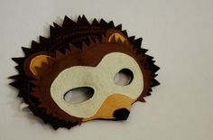 Harry the Nocturnal Hedgehog Mask for Pretend by HuntingFaeries, $20.00