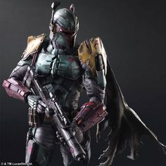 Square Enix, the Japanese video game publisher behind the Final Fantasy series, has developed a range of Star Wars toys. Darth Vader, Boba Fett, and the generic Imperial stormtrooper have all been. Boba Fett Movie, Star Wars Boba Fett, Jango Fett, Star Citizen, Star Wars Toys, Star Wars Art, Darth Vader, Stormtroopers, Cyberpunk