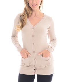 Look at this #zulilyfind! Maglia Raw Pocket Button-Up Sweater by Maglia #zulilyfinds