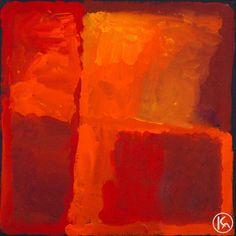 """My Country"" by Kudditji Kngwarreye 60cm x 60cm SOLD"
