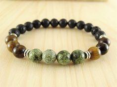 Mens bracelet beaded bracelet power bracelet mens gift for men
