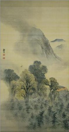 Cuckoo Flying over New Verdure - Yosa Buson. Yosa Buson or Yosa no Buson (与謝 蕪村?, 1716 – January was a Japanese poet and painter of the Edo period. Along with Matsuo Bashō and Kobayashi Issa, Buson is considered among the greatest poets of the Edo Period. Chinese Landscape Painting, Japanese Painting, Japanese Art, Landscape Paintings, Haiku, Art History Lessons, Ink In Water, Korean Art, Art Database