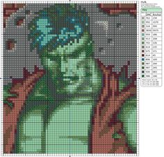 Cross-stitch The Incredible Hulk by: Makibird-Stitching.deviantart.com