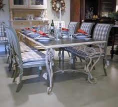 Boxwood Terrace: Zinc Topped Tables