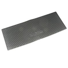 #Acadia Cargo Area Mat, Premium All Weather, #GMC Logo, Titanium: Complement the interior artistry of your Acadia with the hard-working functionality of this Premium All-Weather Cargo Mat. This precision-designed mat fits the floor exactly. Its deep-ribbed pattern collects rain, mud, snow, and other debris for easy cleaning. Nibs on the back help keep it in place. Folds neatly for storage. Features GMC logo. Color: Titanium.