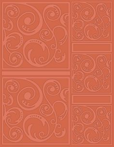 "Swirl Tangle New Craftwell SWIRLTANGLE Embossing Folder 8.5/"" x 11/"""