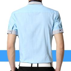 62e27afbd85a Famous Brand Men Shirts 2015 Summer Short Sleeve Striped Shirt Men Slim Fit  Cotton