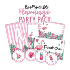 Free Printable Flamingo Party Pack - The Cottage Market