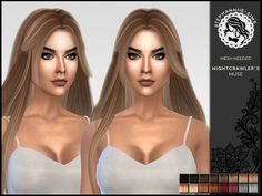 Nightcrawler's Muse hair retexture by Stephanniie-Sims at TSR • Sims 4 Updates