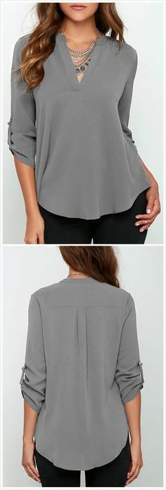 LOVE - I love the cut of this top and that it fits slightly loose but still has a fitted profile.