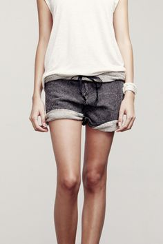 Love this... Sweatpant shorts
