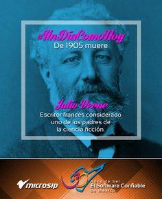 #UnDíaComoHoy 24 de marzo pero de 1905 muere Julio Verne, escritor francés considerado uno de los padres de la ciencia ficción.