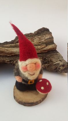 needle Felted Gnome  Cristmas decoration Christmas in by mirtilio