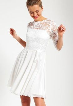 Swing Cocktail dress / Party dress - creme for Free delivery for orders over Lace Wedding Dress With Sleeves, Dresses With Sleeves, Prom Dresses, Formal Dresses, Wedding Dresses, Frock And Frill, Sequin Dress, Bridal Gowns, Party Dress