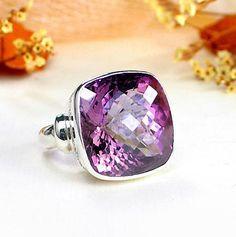 #Sterling #Silver #Ring #Semi #Precious #Gemstone #Amethyst #Simple #Designed by #Arpit #Gems