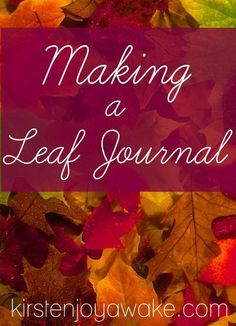 Get into nature with your kids this fall.  There's so much to appreciate and learn.  See how we took all our nature finds and made a leaf journal.  #Free #printable journal pages included.  Also a free #app for identifying leaves in your region.  Cool stuff!