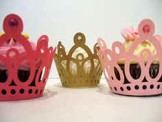 Princess crown cupcake wrappers.