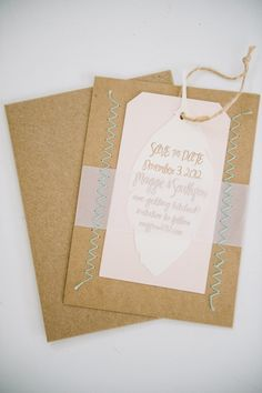 stitched wedding invitations // photo by Nathan Russell