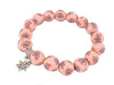 DIY czwartek - wiosenna bransoletka w kwiaty