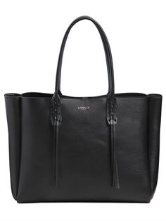 LEATHER TOTE BAG WITH FRINGED DETAILS