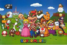 Greetings from the Mushroom Kingdom! A great poster of the cast from Nintendo's classic video game Super Mario! Fully licensed - 2014. Ships fast. 24x36 inches. Power Up with the rest of our awesome s
