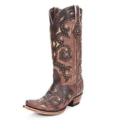 Lucchese 1883 Studded Scarlet Cowgirl Boots