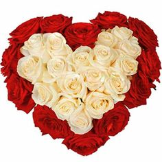 Thousand words is nothing compared with this elegant 25 red and white roses in heart shape arrangement. http://www.tajonline.com/valentines-day-gifts/product/v2867/graceful-heart-bunch/?aff=pint2014/