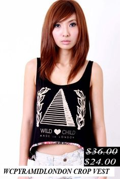 50% Discount. WcpyraaM id London Crop Vest. Now it's only.... $24.00