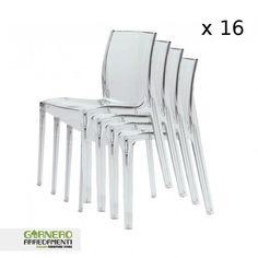 Set di 2 sedie in policarbonato Gruvyer trasparente   amobiliare ...