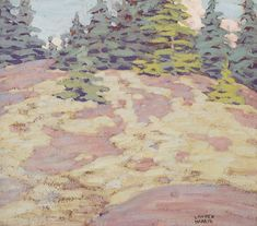 """Muskoka,"" Lawren Stewart Harris, oil on board, 10 x 12 private collection. Group Of Seven, Canadian Art, Fine Art Auctions, Oil, Landscape, Board, Artist, Nest, Painting"