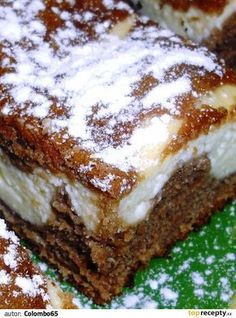 Granko-tvarohové řezy Sweet Desserts, Sweet Recipes, Cake Recipes, Dessert Recipes, Good Food, Yummy Food, Czech Recipes, Croatian Recipes, Sweet Cakes