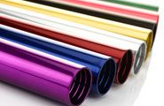"""#colouranodising http://www.badgeranodising.co.uk/services/anodising-and-coloured-anodising/ Our standard range of colours shown in the picture includes: Silver, Brass, Gold, Red, Violet, Green, Blue, Orange and Black. We offer a """"stainless steel"""" look for aluminium. This finis…"""