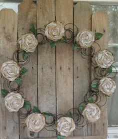 Bed+Spring+Wreath+22-24+Wreath+Repurposed+Bed+Springs