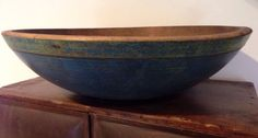 C1800's turned wood dough bowl * themommss ~ ebay.