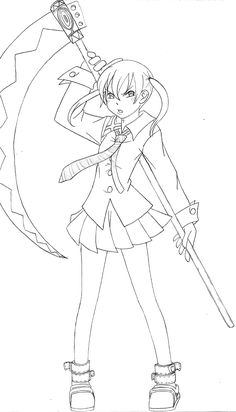 soul eater coloring pages anime