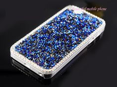 Deluxe 3D Bling Crystal Rhinestone Hard Case Cover for Apple iPhone 5/4/4S (Blue) ,Best personalized gifts for him or her on Yoyoon.com