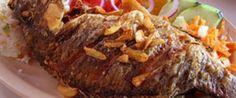 pescado frito al mojo de ajo
