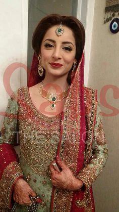 Sarwat Gillani wedding - makeup by Qadir at Sabs Salon Dulhan Dress, Walima Dress,