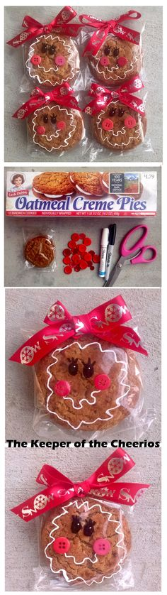 gingerbread-cookies - we will hand these out on Sunday, December 31 - Ribbon and tag more New Year's Eve looking.