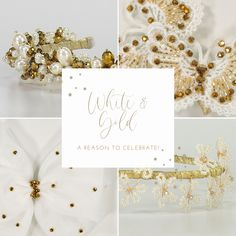 It's the most wonderful time of the year... 🎄 #Celebrate the holidays with your BFF in style! ✨ Check out this white and gold accessories to match your festive attires! Gold Accessories, Party Accessories, Hair Garland, Kids Branding, Flowers In Hair, Wonderful Time, Jewelry Collection, Bff, Festive