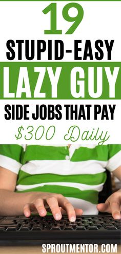 Here are simple low stress jobs for the shy people, introverted persons and any other types of lazy person looking for ways to make money online while they work from home during their spare time. In short these part time jobs are ideal for anyone even people without a college degree.