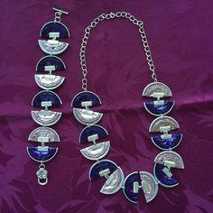 Bracelet i collaret. Bijoux Fil Aluminium, Cork Art, Coffee Pods, Jewelry Gifts, Creations, Jewelry Making, Drop Earrings, Pendant, Bracelets