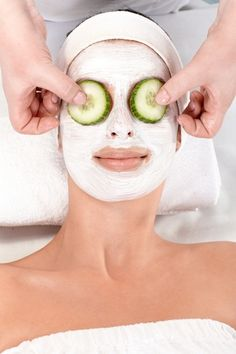 5 DYI Anti Redness Facial Treatments. Cucumbers to honey you kitchen may help calm facial redness.  #rosacea #skincare
