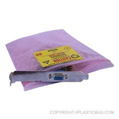 #Ink E.S.D Three Layer #ZipClose #Pouch - Three layer Anti-Static Cushion Pouch: Pink Anti-Static poly, Pink Anti-Static bubble, and an inner layer of Pink Anti-Static poly; with double track red line Anti-Static zipper closure.  #antistatic #bubblebag #recloseable #barrier #conductive